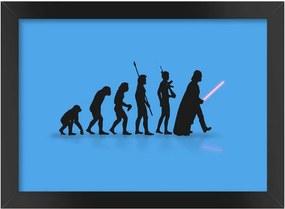 Pôster com Moldura A3 - Evolução Geek - Star Wars