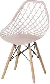Cadeira Frank Nude Base Madeira - 50070 Sun House