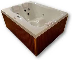 Banheira SPA Hidromassagem Mini Spa Terrace com 11 jatos 170x130x75cm para 3 pessoas com aquecedor, apoio cabeça e fechamento - Jacuzzi - Jacuzzi