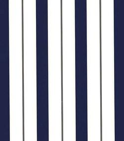 Papel de Parede Vinílico Listrado Azul Marinho com Relevo - Importado - Coleção Império Algodão Doce - 190979