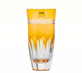 Copo de Cristal Lapidado Artesanal Long Drink - Amarelo - 17