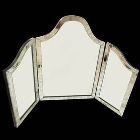 Espelho Veneziano Grande de 3 Peças e moldura Bisotado - 62x95cm