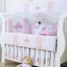 Kit Berço Padroeira Baby Princesinha Rosa