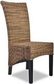 Cadeira de Rattan Macador na Cor Marrom