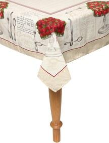 Toalha de Mesa Karsten Cada Dia Antiformiga Lena 140x250cm Bege
