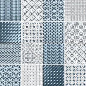 Adesivo Azulejo Abstrato Azul E Cinza 262874396
