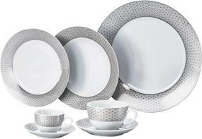 Jogo Jantar 42 Peças Florido White 11039 Bon Gourmet
