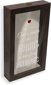 Quadro Porta-rolhas Vinhos Melhores Vintage Madeira