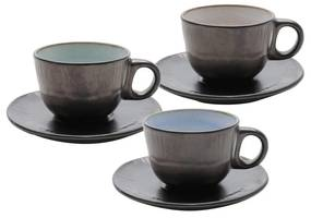 Jogo Xícaras Para Chá De Cerâmica 6 Peças Rustic Marrom 175ml 35393 Bon Gourmet