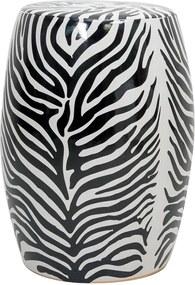 Garden Seat de Porcelana Zebra