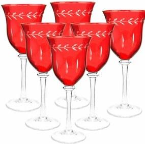 Taças de Cristal para Vinho Tinto Vermelho 290ml 6 Peças