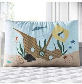Almofada Retangular Navio Submerso Colorido Grão d