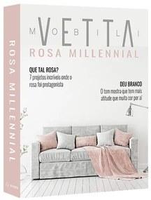 Livro Caixa Vetta Rosa Millennial - 30 X 24 X 4 cm  30 X 24 X 4 cm