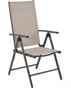 Cadeira Paraisópolis em Alumínio e Tela Bege