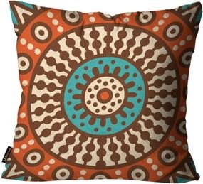 Capa para Almofada Premium Peluciada Mdecore Mandala Colorido 45x45cm Marrom
