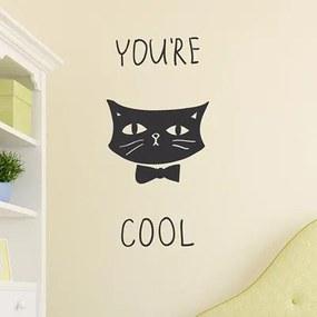 Adesivo Decorativo You're Cool Gato Preto Medidas 0,59X1,2 Metros (Você É Legal)