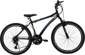 Bicicleta Top Aro 26 18/M Atr 3.0 34.7Mm Preta E Azul Athor Bike