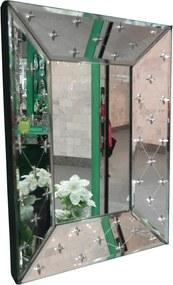 Espelho Veneziano Estilo Luis XV Com Corte Bisotê - 69x50cm