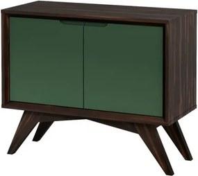 Buffet Uriel 2 Portas Envelhecido e Verde Musgo - Wood Prime MP 27585