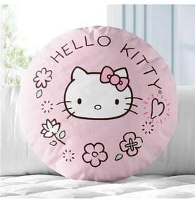 Almofada Rosa Hello Kitty Estampa Sanrio Grão de G