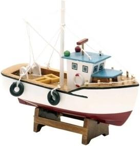 miniatura barco NAVEGANTE madeira 15cm Ilunato IN0028