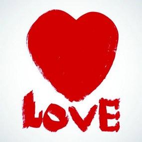 tela LOVE mdf vermelho 60cm Ilunato 85026096