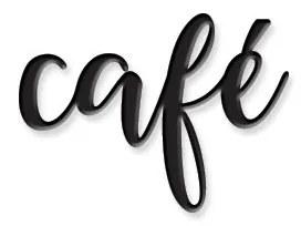 Palavra para parede Café