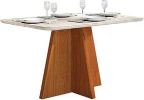 Mesa de Jantar Talía para 4 Cadeiras com Tampo Curvo 136cm Rústico Terrara Off White