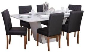 Conjunto Sala de Jantar Mesa Lilie com 6 Cadeiras Sertão - Wood Prime 38704