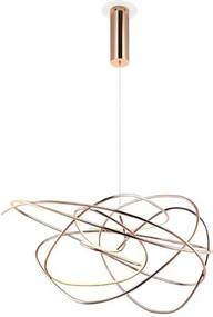 Pendente Metal Rose Gold Led 36W 3000K Ninho