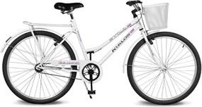Bicicleta Kyklos Aro 26 Circular 5.4 Freio Manual com Cesta Branca