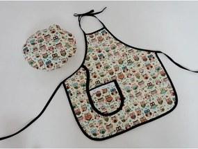 Kit Avental Infantil com Chapéu Mestre Cuca - Coruja