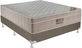 Conjunto Box Airtech Spring Pocket Viuva 128 cm (LARG) Base Courino - 52837 Sun House