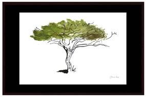 Quadro Decorativo Figurativo Arvore da Vida Algarrobo Verde e Branco 106x70 - CZ 44063