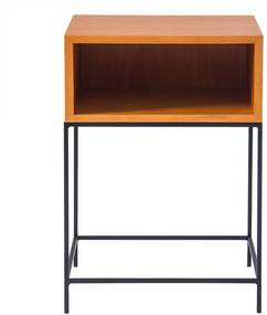 Mesa de Apoio Mistu 45 cm Aço Preto / Marfim - Gran Belo