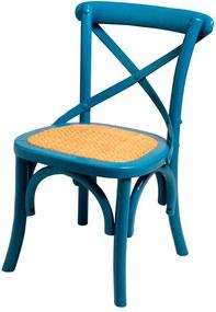 Mini Cadeira Paris Blue de Madeira sem Braço