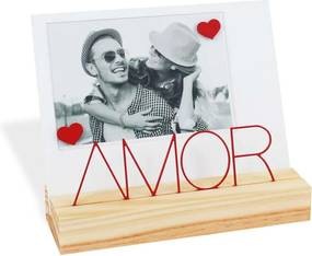 Porta Retrato Madeira Letreiro Amor