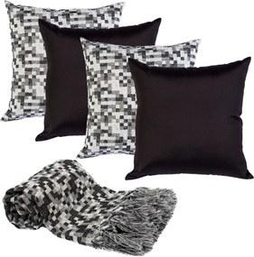 Manta decor p/sofá 2x1,4m e 4capas almofada pixelvsk162