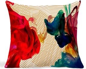 Almofada Vickttoria Vick Teia Colorida Quadrado 45 X 45 cm