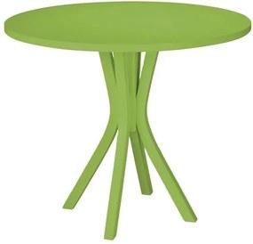 Mesa de Jantar Felice com Tampo Redondo Verde claro em MDF Laqueado