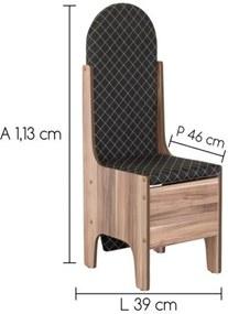 Cadeira que vira Tábua de Passar Roupa Marrom - MP Decor