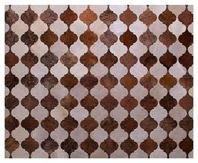 Tapete Oriente Exótico Marrom e Bege - TP 45564 1,50 x 2,00