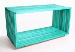 Módulo Dominoes com 90 x 45 Stain Azul - Mão & Formão