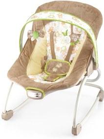 Cadeira de Descanso e Balanço Até 18Kg Bege e Verde Mastela