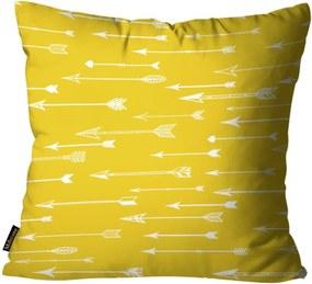 Almofada Premium Cetim Mdecore Flechas Amarela 45x45cm