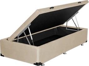 Base Box Baú Alméria Solteiro (L: 90cm x A: 42cm x P: 190cm) Suede