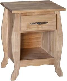 Mesa de Cabeceira Rústico Fechado Arroio - Wood Prime Biomóvel 1028564