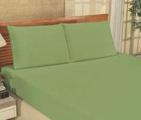 Roupa de Cama Casal King Bianca Microfibra 03 Peças - Verde