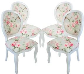 Conjunto 04 Cadeiras de Jantar Medalhão Lisa Sem Braço - Wood Prime 644149 Liso