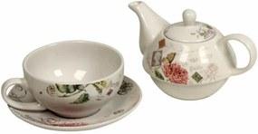 Conjunto de Chá Decorativo de Porcelana Gardane